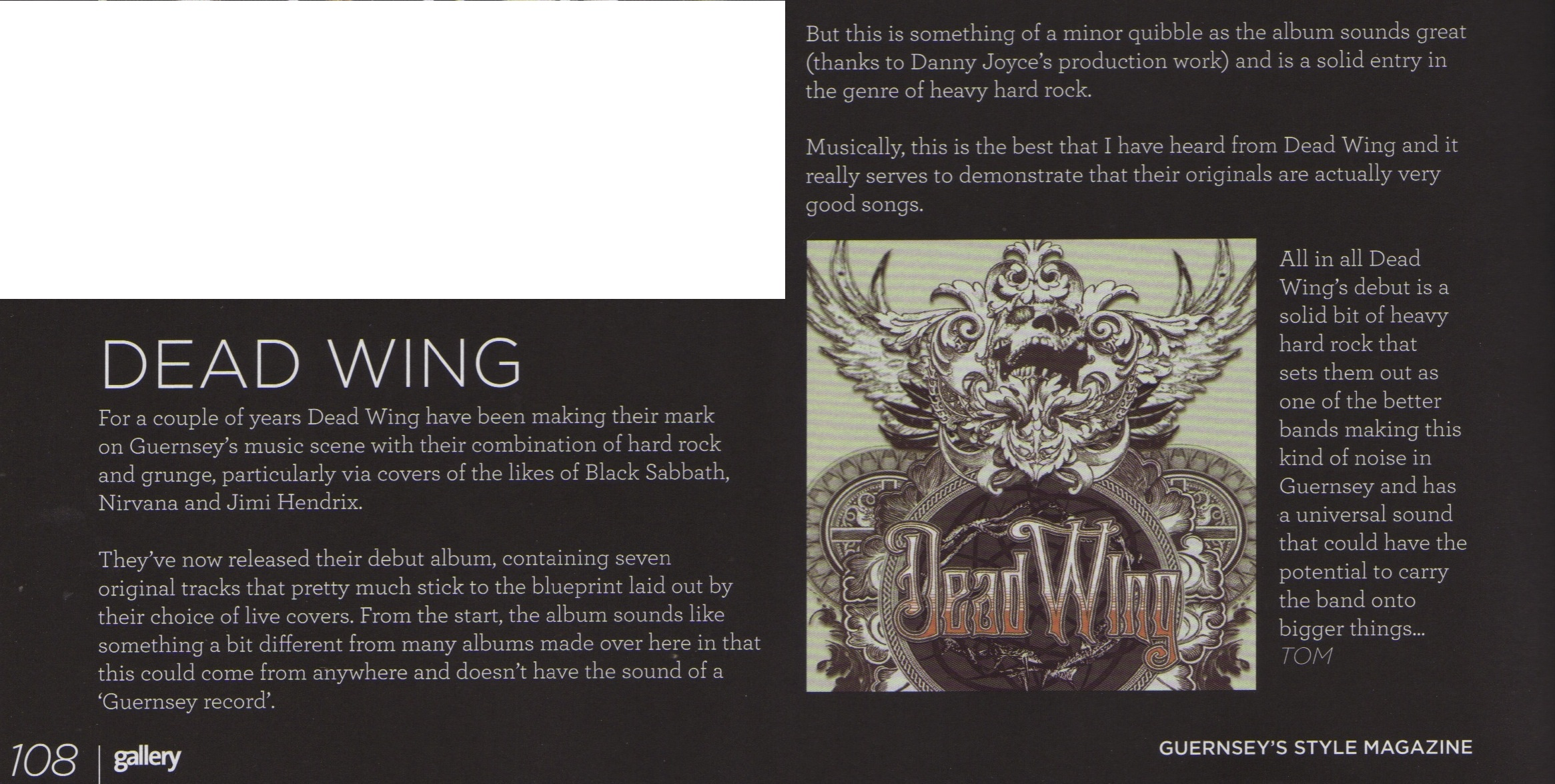 Dead wing in gallery magazine and full album review tommy girard full review malvernweather Image collections
