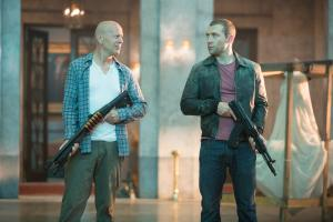 Bruce Willis and Jai Courtney