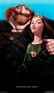 Brave Queen Elinor and King Fergus poster