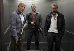 Bruce Willis, Jai Courtney and Sebastian Koch