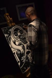 Live visual artist Hugh Rose
