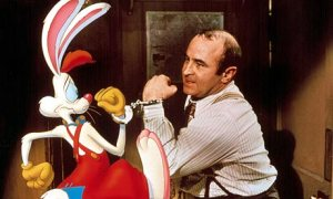 Roger Rabbit and Bob Hoskins