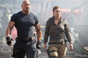 Fast & Furious 6 - Dwayne Johnson The Rock and Gina Carano