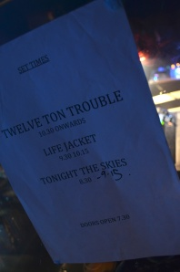 Twelve Ton Trouble album launch set times