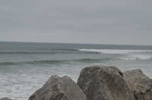 Surfers at Malibu