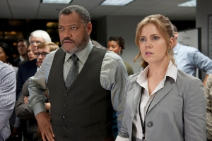 Laurence Fishburne and Amy Adams