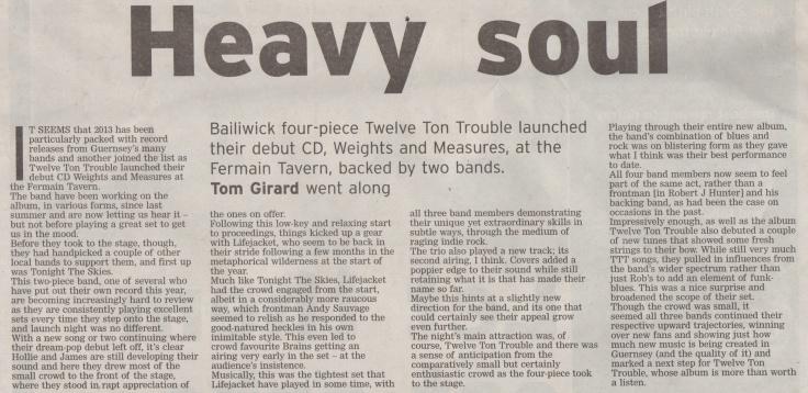 Twelve Ton Trouble album launch - 6:7:13 scan