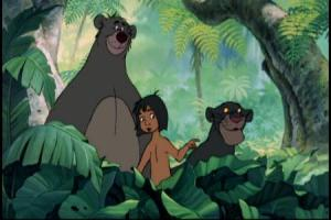 Baloo, Mowgli and Bagheera