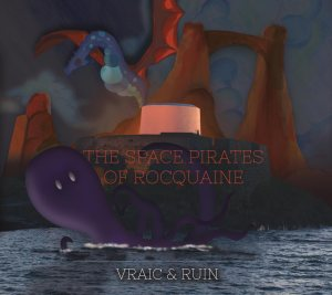 Space Pirates of Rocquaine album cover by HA Design