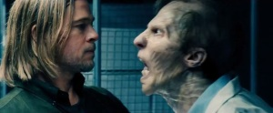 World War Z - Brad Pitt and zombie