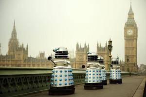 Daleks on Westminster Bridge