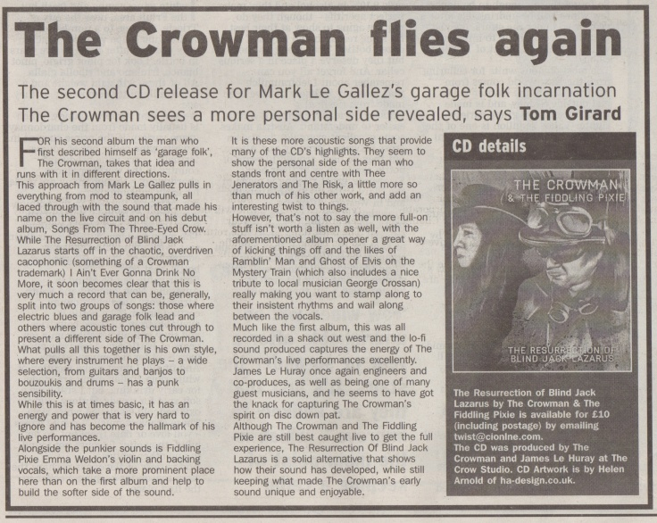 The Crowman - The Resurrection of Blind Jack Lazarus review scan - 22:03:14