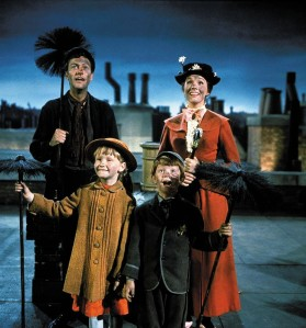 Bert, Mary Poppins and the Banks children