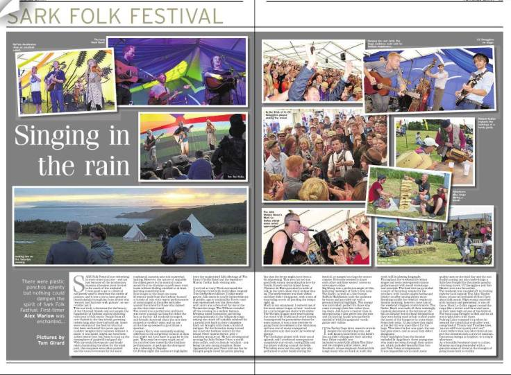 Sark Folk Festival cutting - 10/07/14