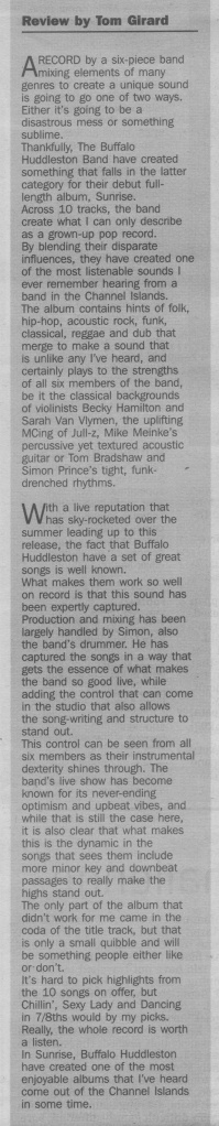 Buffalo Huddleston - Sunrise review scan - 06:11:14