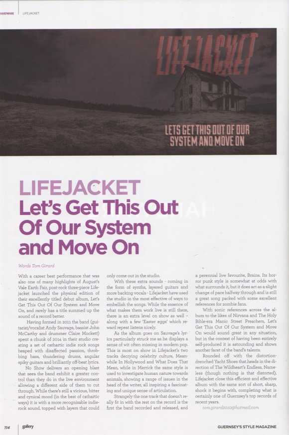 Lifejacket review - October 2015