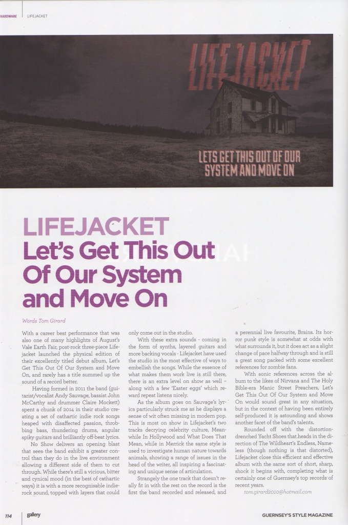 Lifejacket review - October 2015