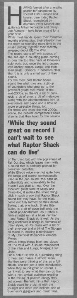 Raptor Shack - The Wild review scan - 22:11:14