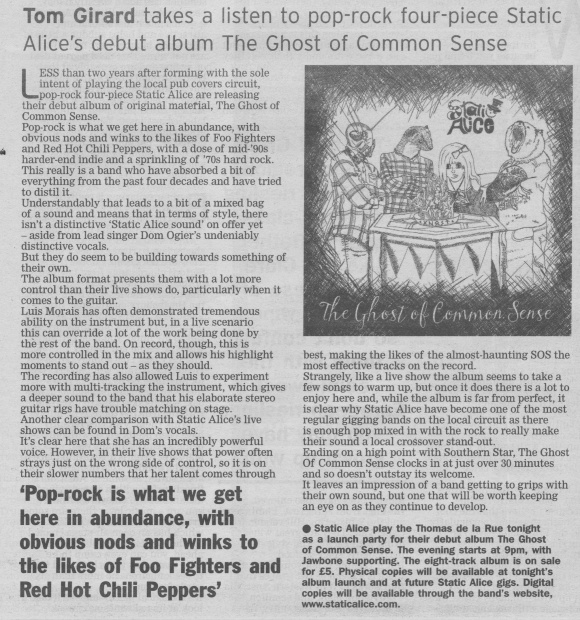 Static Alice - The Ghost of Common Sense review scan - 15:11:14