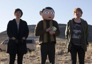 Frank - Maggie Gyllenhaal, Michael Fassbender and Domhnall Gleeson