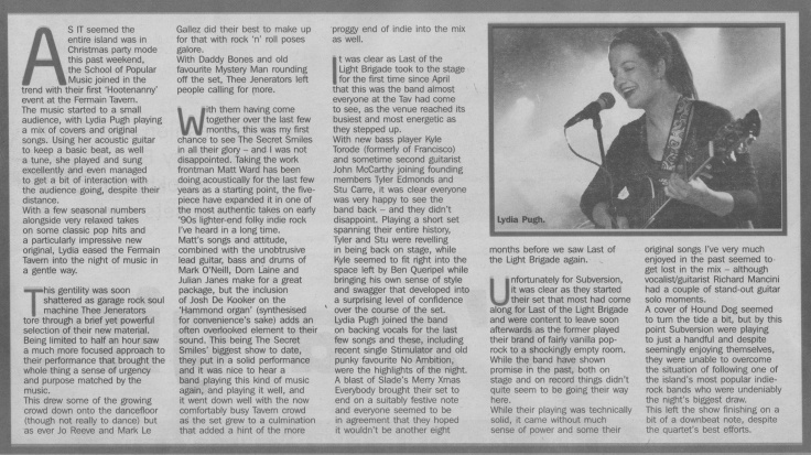 SOPM Christmas Gig review scan - 20:12:14
