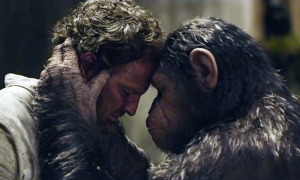 Malcolm and Caesar in Dawn of the Planet of the Apes