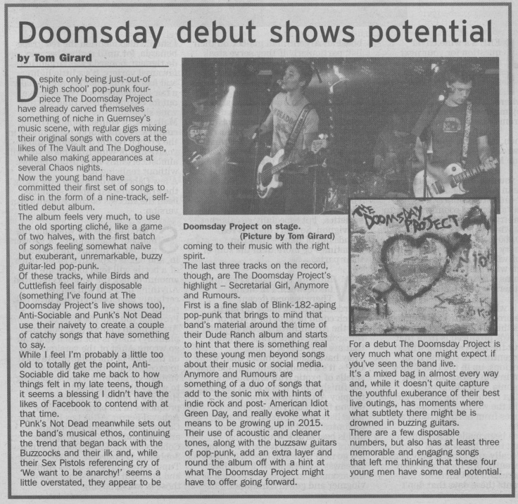 Doomsday Project album review scan - 07:01:15