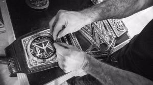 WWE Championship belt customised for Seth Rollins