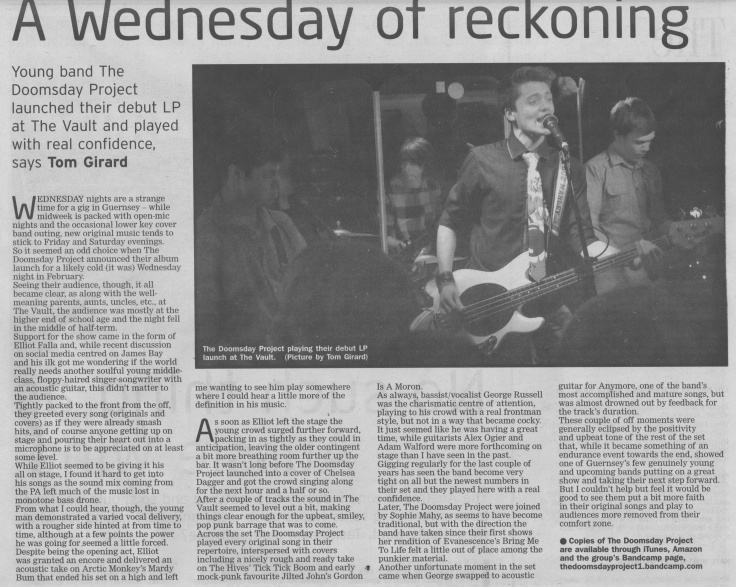 Doomsday Project album launch review scan - 14:03:15