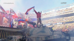 Rusev on a tank!