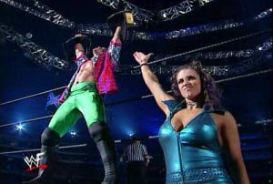Chris Jericho and Stephanie McMahon