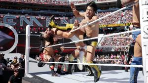 Hideo Itami eliminates Bo Dallas
