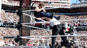 Sick powerbomb on Ambrose
