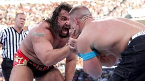 Rusev and Cena face off