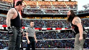Undertaker squares off with Bray Wyatt
