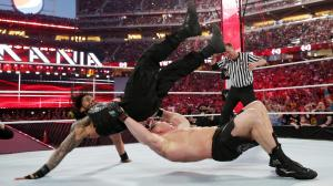 German suplex to Reigns