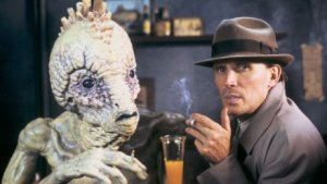 Peter Weller and William Lee (with a Mugwump)