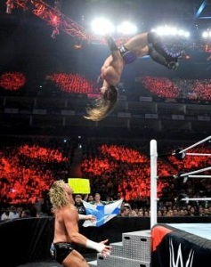 Neville going for an Asai moonsault