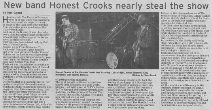 To The Woods, Static Alice, Jawbone, Honest Crooks review scan - 04:04:15