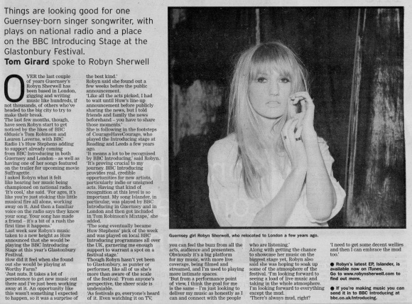 Robyn Sherwell Glastonbury interview scan - 13:06:15