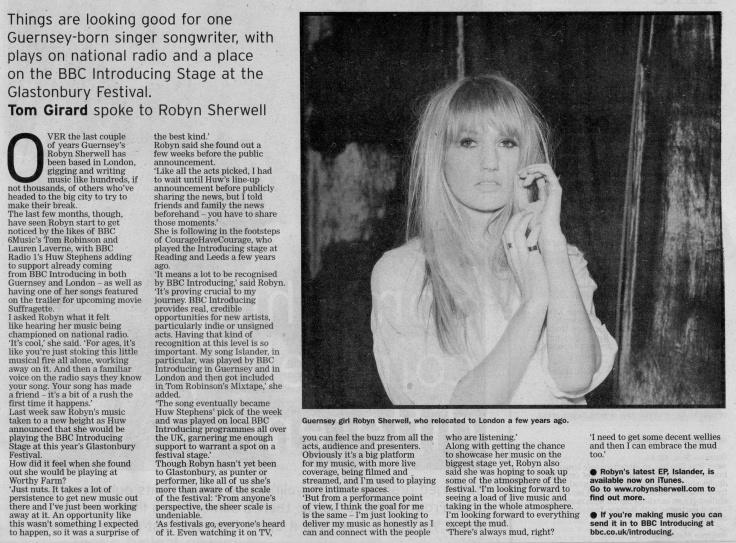 Robyn Sherwell Glastonbury interview scan - 13:06:15