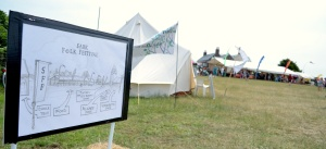 Sark Folk Festival sign