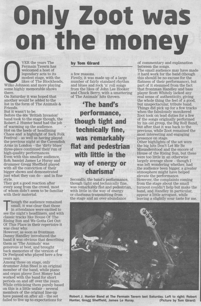 The Animals and Robert J Hunter review scan - 25:07:15