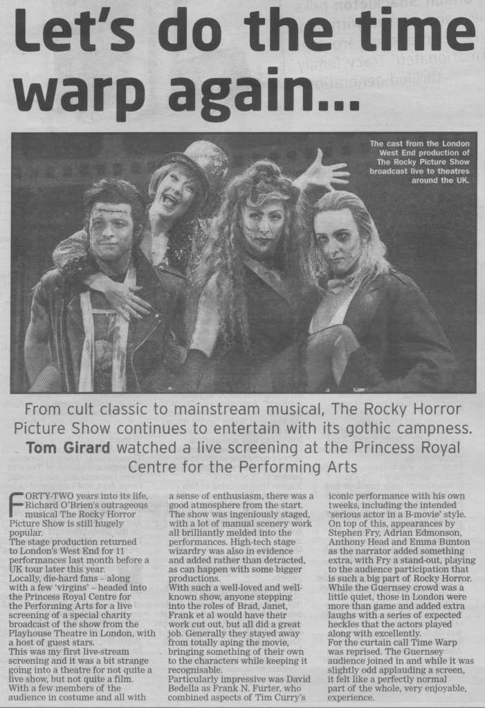Rocky Horror Show Live review scan - 03:10:15