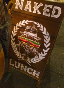 Naked Lunch Sign