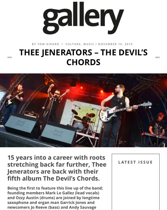 Thee Jenerators - The Devils Chords - November 2015