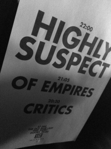 Highly Suspect, Of Empires, Critics - poster