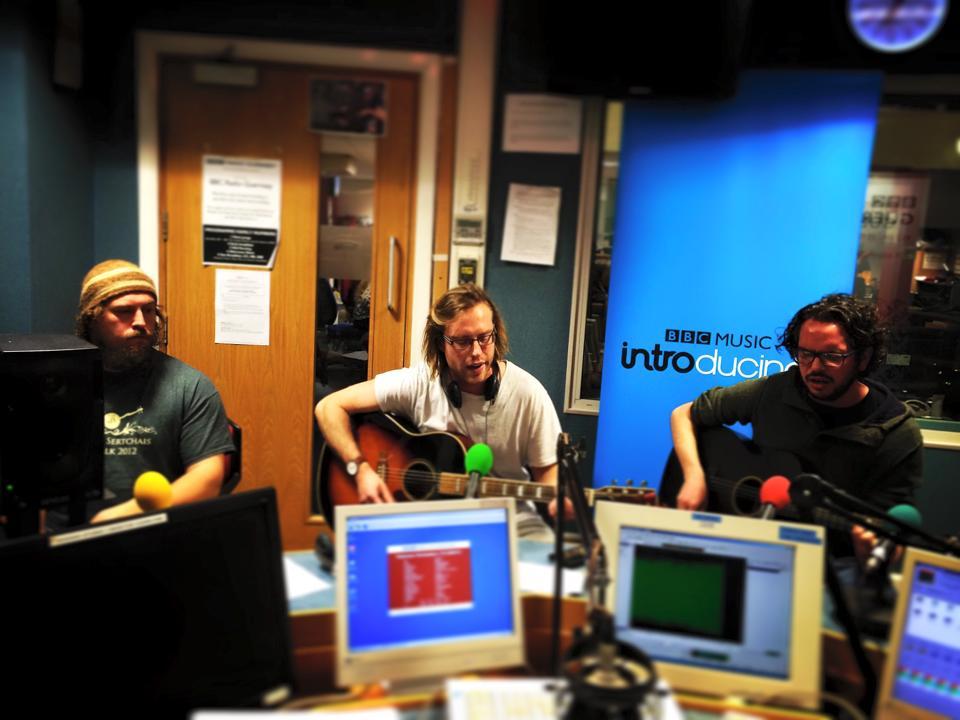Wondergeist in session on BBC Introducing Guernsey
