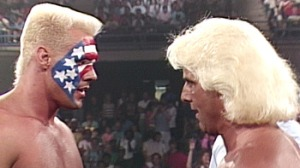 Sting and Ric Flair at The Great American Bash