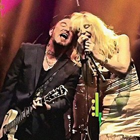 Ginger Wildheart and Courtney Love